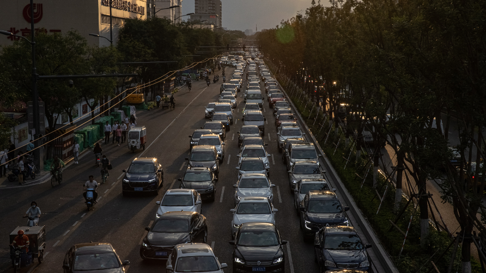 tráfico Beijing China cambio climático